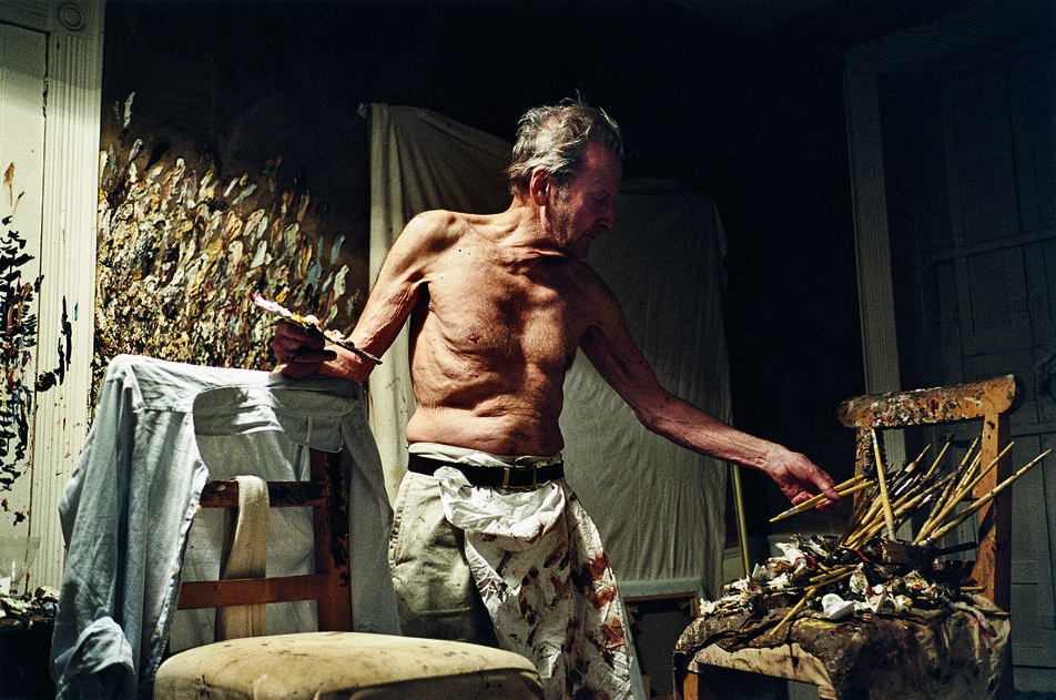 """Lucian Freud Working at Night"" by David Dawson, courtesy of Hazlitt Holland-Hibbert Gallery"